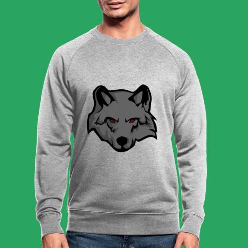 wolf logo - Felpa ecologica da uomo