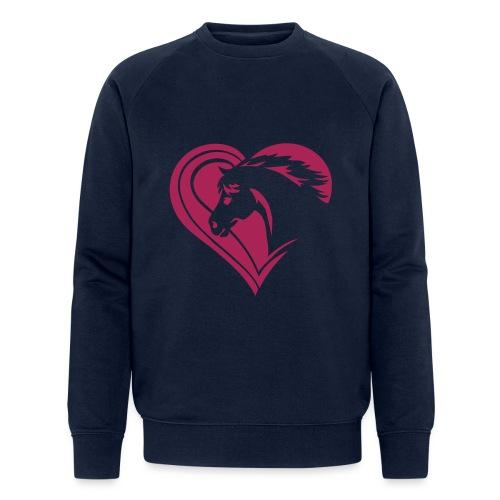 Iheart horses - Männer Bio-Sweatshirt von Stanley & Stella