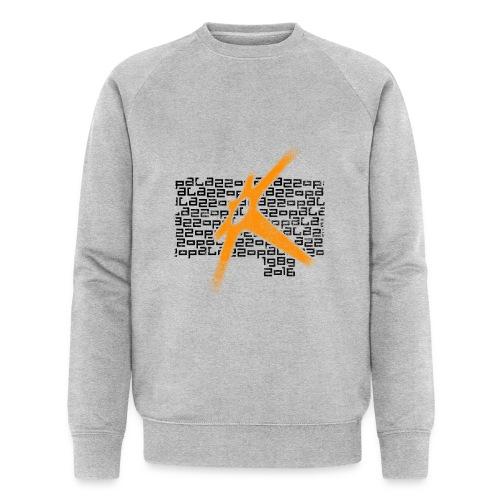 Palazzo Textblock auf weiss/on white - Männer Bio-Sweatshirt