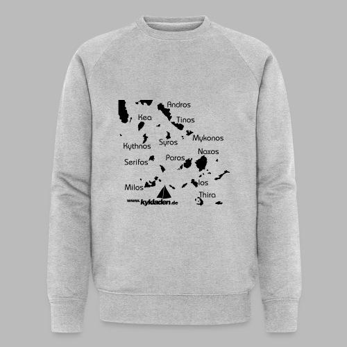 Kykladen Griechenland Crewshirt - Männer Bio-Sweatshirt