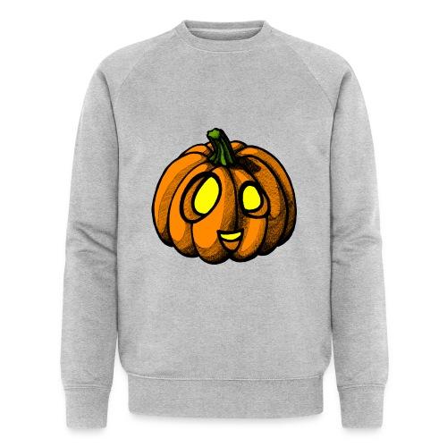 Pumpkin Halloween scribblesirii - Stanley & Stellan miesten luomucollegepaita
