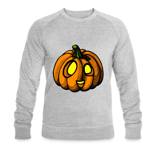 Pumpkin Halloween scribblesirii - Miesten luomucollegepaita