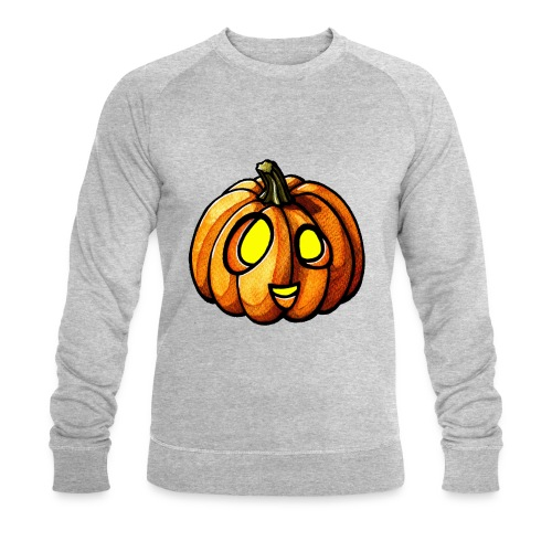 Pumpkin Halloween watercolor scribblesirii - Men's Organic Sweatshirt by Stanley & Stella