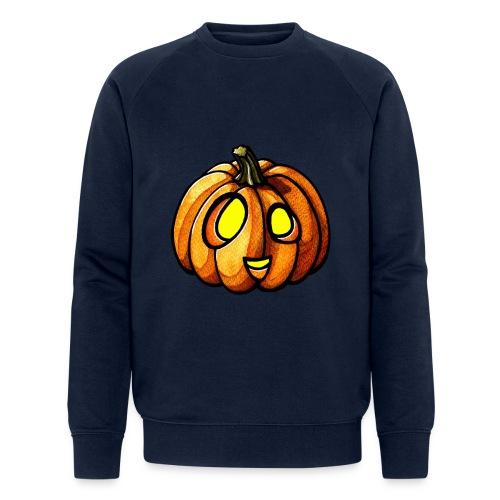Pumpkin Halloween watercolor scribblesirii - Økologisk Stanley & Stella sweatshirt til herrer