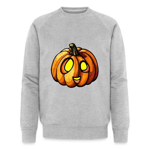 Pumpkin Halloween watercolor scribblesirii - Miesten luomucollegepaita