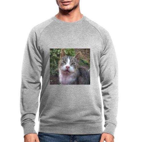 Katze Max - Männer Bio-Sweatshirt