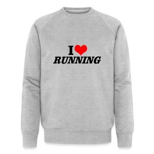 I love running - Männer Bio-Sweatshirt von Stanley & Stella