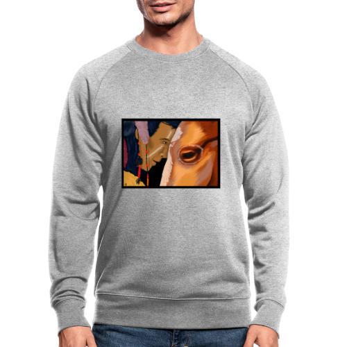 Man and Horse - Mannen bio sweatshirt