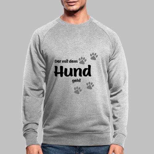 Der mit dem Hund geht - Colored Paw - Männer Bio-Sweatshirt