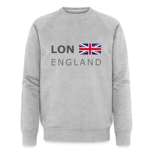 LON ENGLAND BF dark-lettered 400 dpi - Men's Organic Sweatshirt by Stanley & Stella