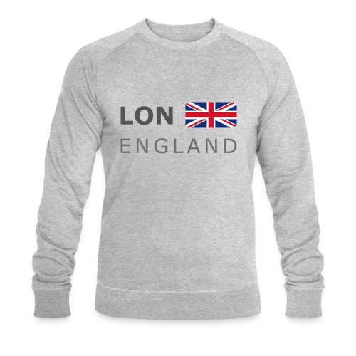 LON ENGLAND BF dark-lettered 400 dpi - Men's Organic Sweatshirt