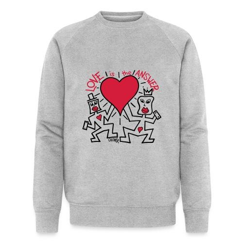 Love is the Answer by Oliver Schibli - Men's Organic Sweatshirt by Stanley & Stella