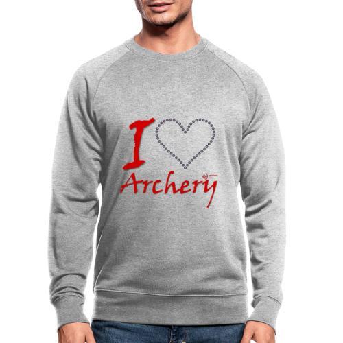 Archery Love - Männer Bio-Sweatshirt