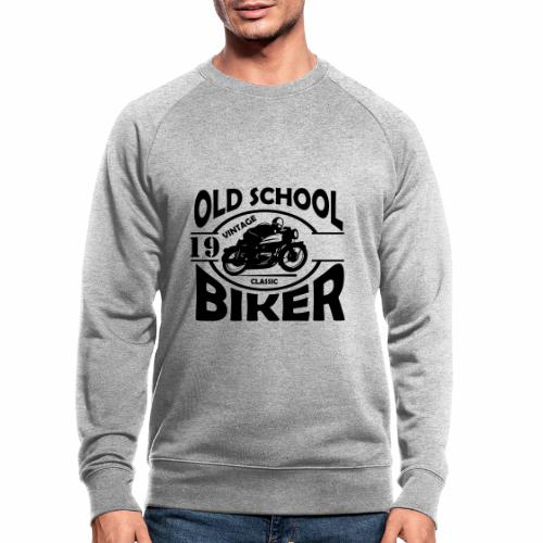 Old School Biker (customise the year) - Men's Organic Sweatshirt