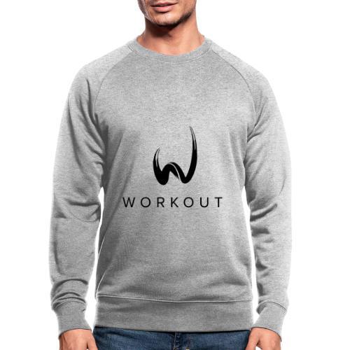 Workout mit Url - Männer Bio-Sweatshirt