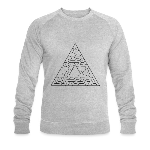 Triangle Maze - Men's Organic Sweatshirt by Stanley & Stella