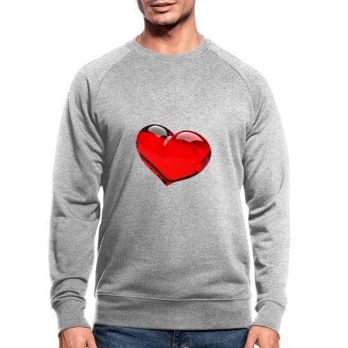 serce 3D - Ekologiczna bluza męska