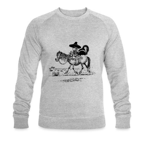 Thelwell 'Cowboy with a skunk' - Men's Organic Sweatshirt by Stanley & Stella