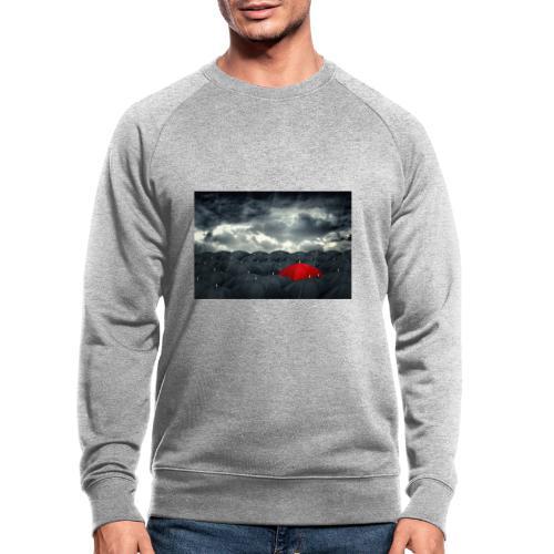 Der rote Regenschirm - Männer Bio-Sweatshirt
