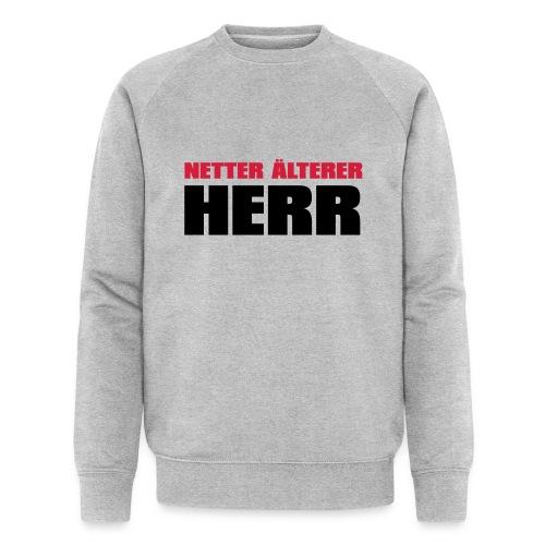Netter älterter Herr - Männer Bio-Sweatshirt von Stanley & Stella