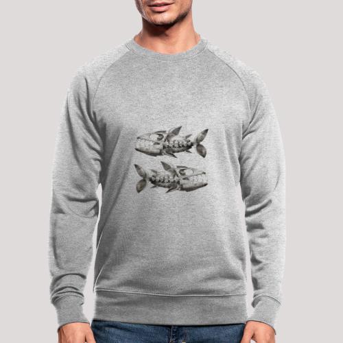FishEtching - Men's Organic Sweatshirt