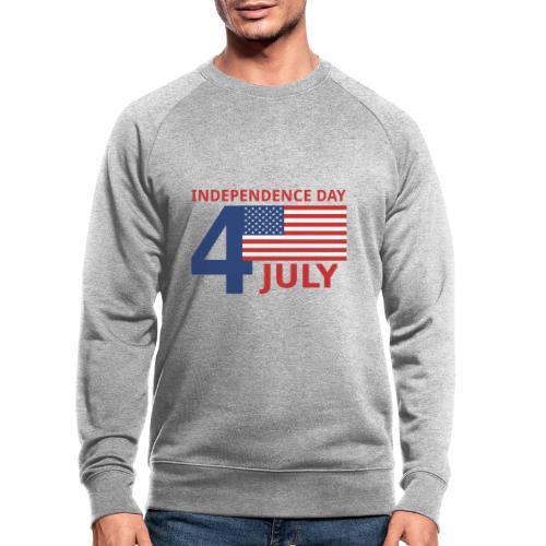 4 luglio giorno della indipendenza - Felpa ecologica da uomo