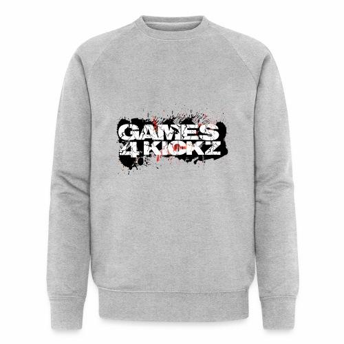 Games4Kickz Logo Splattered Background - Men's Organic Sweatshirt by Stanley & Stella