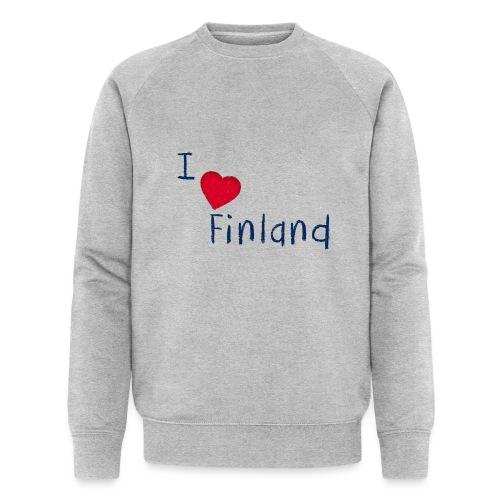 I Love Finland - Miesten luomucollegepaita