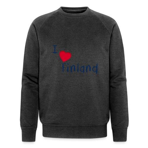 I Love Finland - Stanley & Stellan miesten luomucollegepaita