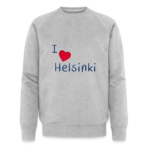 I Love Helsinki - Miesten luomucollegepaita