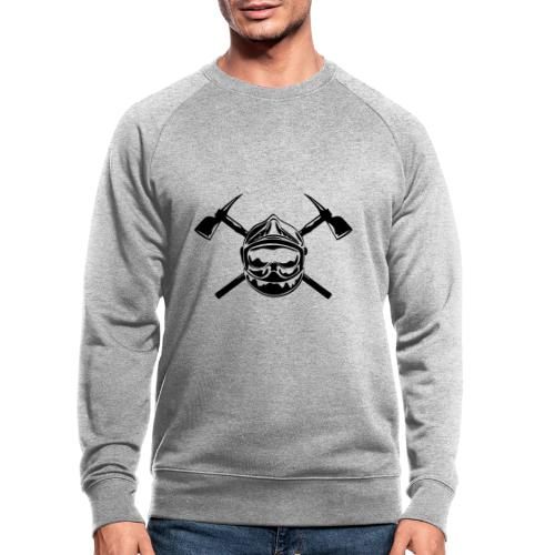 casque_pompier_2 haches - Sweat-shirt bio