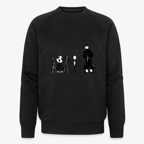 Pissing Man against human self-destruction - Männer Bio-Sweatshirt