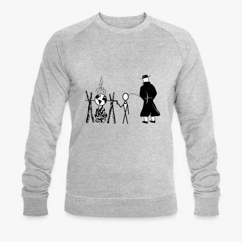 Pissing Man against human self-destruction - Männer Bio-Sweatshirt
