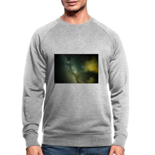 Milchstraße in Süd Tirol - Männer Bio-Sweatshirt