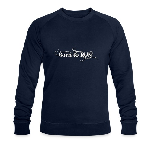 Born-to-RUN---Logo---White.png - Männer Bio-Sweatshirt