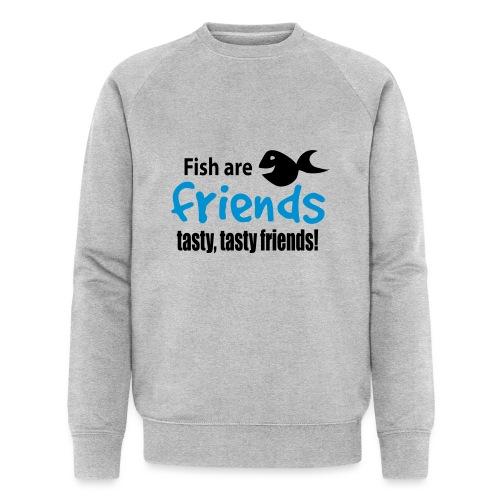Fisk er venner - Økologisk sweatshirt for menn fra Stanley & Stella