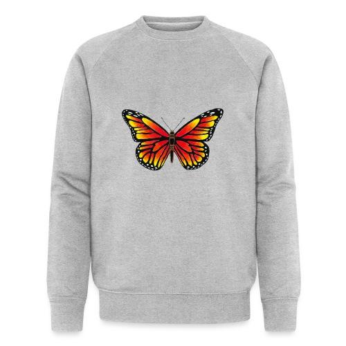 Sommerfugl - Økologisk sweatshirt til herrer