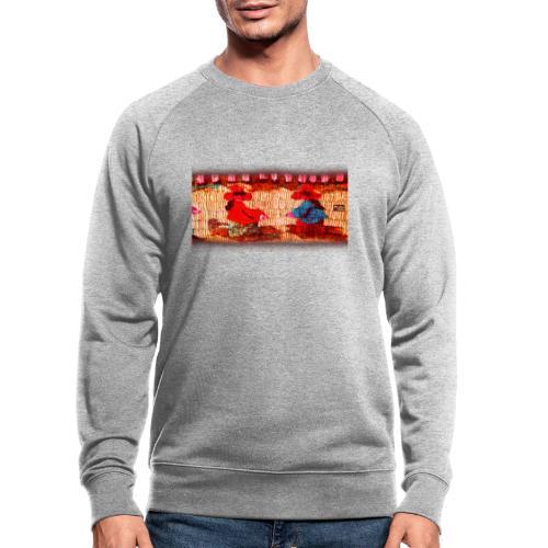 Dos Paisanitas tejiendo telar inca - Männer Bio-Sweatshirt