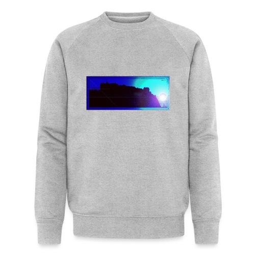 Silhouette of Edinburgh Castle - Men's Organic Sweatshirt