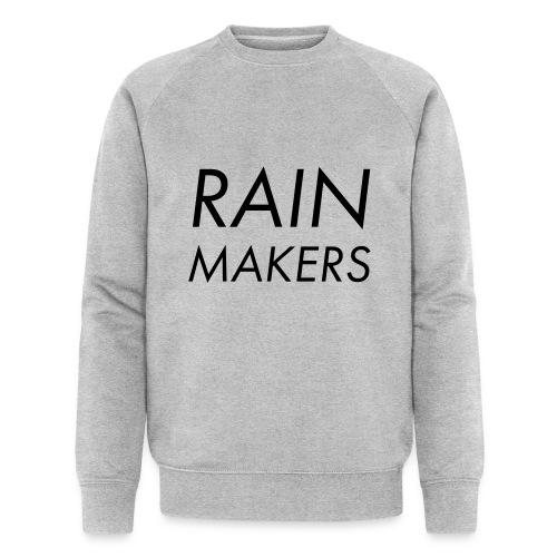 rainmakertext - Stanley & Stellan miesten luomucollegepaita