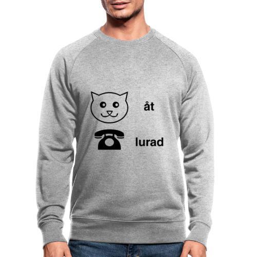 Katt åt telefon - Ekologisk sweatshirt herr