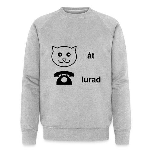 Katt åt telefon - Ekologisk sweatshirt herr från Stanley & Stella