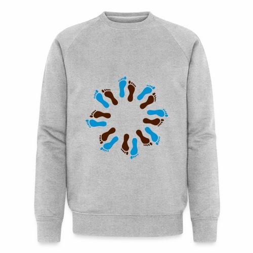Barfuß-Kreis blau-braun - Männer Bio-Sweatshirt von Stanley & Stella