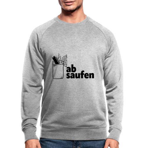 absaufen - Männer Bio-Sweatshirt