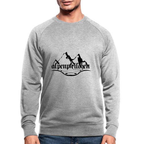 Alpenpfeilchen - Logo - Männer Bio-Sweatshirt