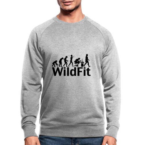 WildFit Logo Evolution in Schwarz - Männer Bio-Sweatshirt