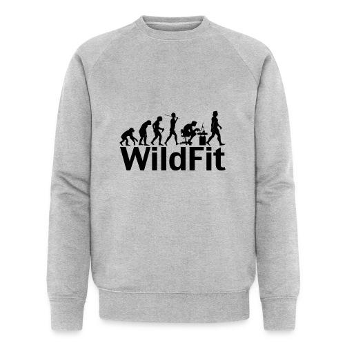 WildFit Logo Evolution in Schwarz - Männer Bio-Sweatshirt von Stanley & Stella