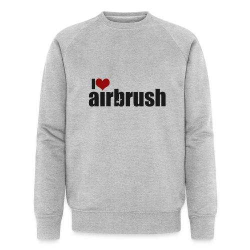 I Love airbrush - Männer Bio-Sweatshirt