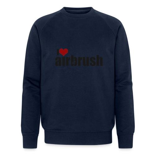 I Love airbrush - Männer Bio-Sweatshirt von Stanley & Stella