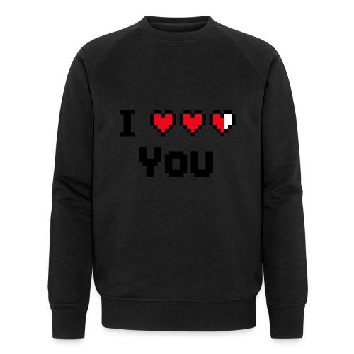 I pixelhearts you - Mannen bio sweatshirt van Stanley & Stella
